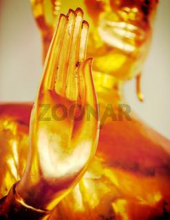 Buddha statue hand,  Thailand