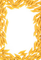 Pasta frame with italian Penne