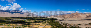 Panorama of Indus valley in Himalayas