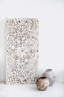 Decorative ethnic elements in white studio