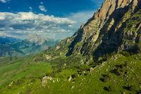 Summer landscape in Caucasus Mountains