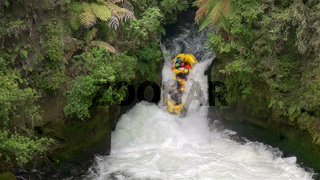 whitewater rafting tutea falls on the north island of new zealand