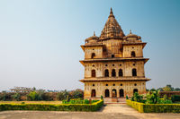 The Royal Cenotaphs (Chhatris), ruins in Orchha, India