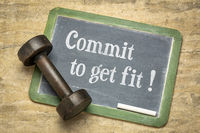 Commit to get fit - fitness concept