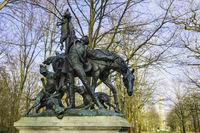 Skulptur Fuchsjagd, Grosser Tiergarten, Berlin, Deutschland