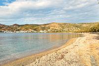 The beach of Marmari in Evia island, Greece