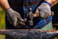 Metalwork artisan at culture festival