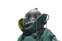 Protective Suit Model Isolated Photo