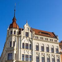 Altbau in der Altstadt von Görlitz, Sachsen, Deutschland