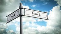 Street Sign Plan B versus Plan A