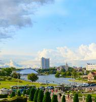 River Minsk city people Belarus