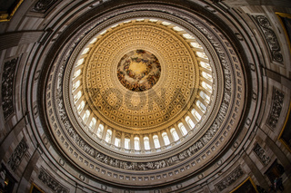 United States Capitol ceiling painting of the (United States Capitol)