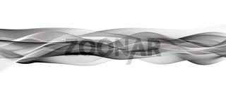 Magical wave panorama background design illustration
