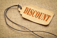 discount - text on a price tag