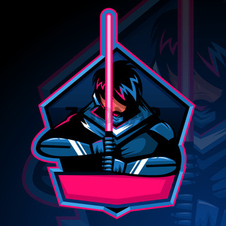 Modern professional knights logo mascot game design template