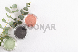 Cosmetic clay powder for skin and hair