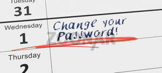 Change your password every month
