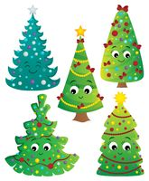 Stylized Christmas trees collection 2
