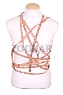 measure tape on torso