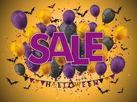 Halloween Balloons Orange Sale Bats