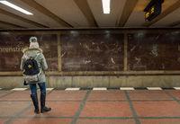 Warten auf die U Bahn