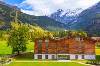 House in Kandersteg, mountains, Switzerland
