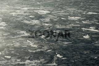 Eisdecke auf dem Hintersee