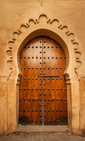 Ancient moorish doors in Marrakesh medina, Morocco