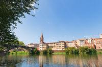 Bridge and village Montauban