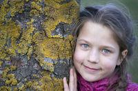 tree girl portrait