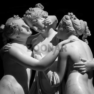 The Three Graces (Le tre grazie) by Antonio Canova