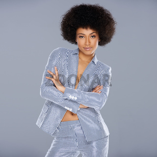 Beautiful glamorous Afro-American woman