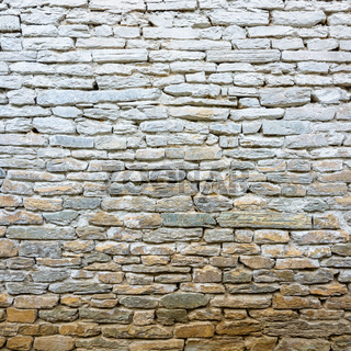 Whitewash old stone wall