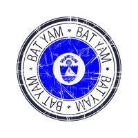 City of Bat Yam, Israel vector stamp