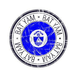 City of Bat Yam, Israel vector stamp
