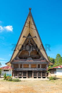 Toba Batak Haus auf der Insel Samosir in Nordsumatra