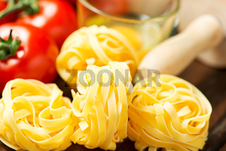 Pasta ready for cooking on table