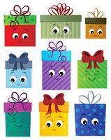 Stylized gifts theme set 1