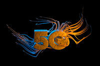Conceptual Conspiracy chipization image of 5g lettering made by cracked white stone with horrible tentacles. 3d illustration background