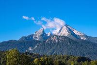 Blick auf den Berg Watzmann im Berchtesgadener Land