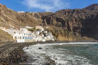 Der beschauliche Strand 'Playa de Alojera' auf der Insel La Gomera
