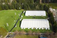 Emergency Hospital Tents have been set up in Shoreline Washington