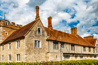 Shipbourne, Kent, UK. April 21 2012. Large Tudor Building