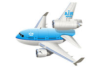 Cartoon Commercial Airplane