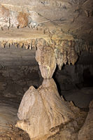 Tropfsteinsäule (Stalagnat), Lang Cave, Gunung Mulu Nationalpark, Sarawak, Borneo, Malaysia