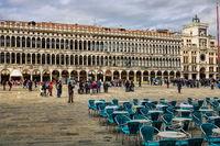 Venice, Italy - 03/18/2019 - piazza di san marco