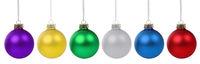Weihnachten bunte Weihnachtskugeln Kugeln Kugel Farben isoliert freigestellt Freisteller