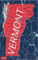 Vermont state detailed editable map