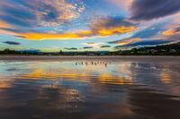 Sunset on the Pacific coast