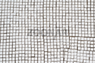 White mosaic tiles. Abstract background and texture.